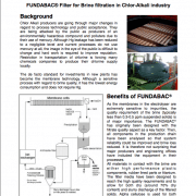 FUNDABAC Filter for Brine filtration in Chlor Alkali industry