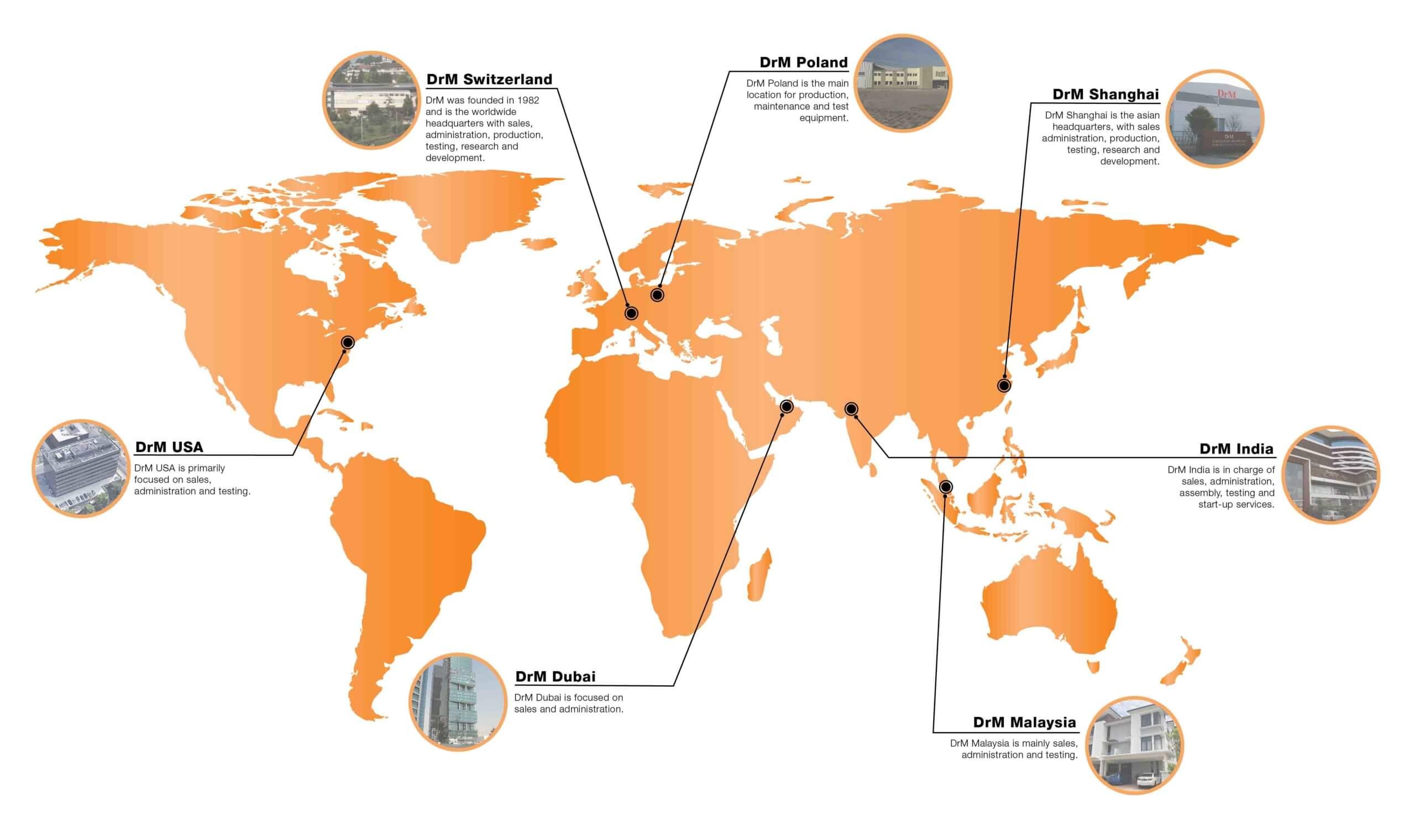 DrM представители в мире
