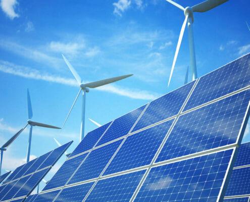 Возобновляемые источники энергии: солнечные батареи, ветряные турбины